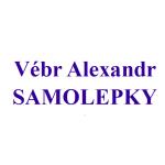 Vébr Alexandr - SAMOLEPKY – logo společnosti