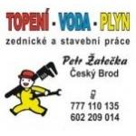 TOPENÍ - VODA - PLYN - Žatečka Petr – logo společnosti