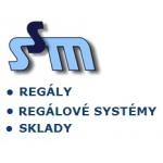 Služby, stavby, montáže, spol. s r.o. - regály, regálové systémy, sklady Praha – logo společnosti