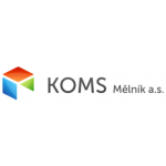 KOMS Mělník a.s. – logo společnosti