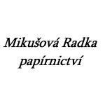 Mikušová Radka- papírnictví – logo společnosti