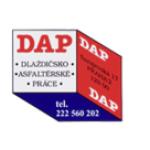 DAP. a.s. - dlaždičské a asfaltérské práce Praha – logo společnosti