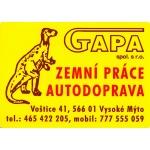 GAPA spol. s r.o. - zemní práce, autodoprava – logo společnosti