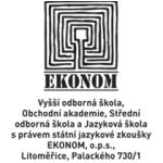 Vyšší odborná škola, Obchodní akademie, Střední odborná škola a Jazyková škola s právem státní jazykové zkoušky EKONOM, o.p.s. – logo společnosti