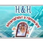 H & H sklenářství a rámování – logo společnosti