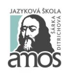 Ditrichová Šárka - Jazyková škola Amos – logo společnosti