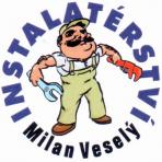 VESELÝ MILAN-VODO, TOPO, PLYN – logo společnosti