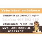 MVDr. Jiří Dokulil - VETERINÁRNÍ AMBULANCE – logo společnosti
