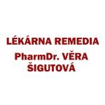 Lékárna REMEDIA PharmDr. Věra Šigutová – logo společnosti
