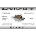 Stavební práce Balický – logo společnosti