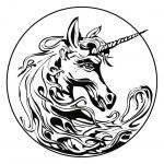 Linda Moravcová Šabatová- Penzion a lazebna Bílý jednorožec – logo společnosti