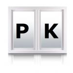 Karel Poskočil - PK okna – logo společnosti