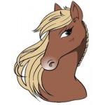 Přeprava koní a jezdecká škola Sany – logo společnosti