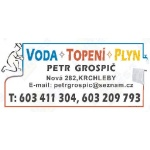 Grospič Petr - VODA - TOPENÍ - PLYN – logo společnosti