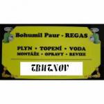 Paur Bohumil - REGAS – logo společnosti